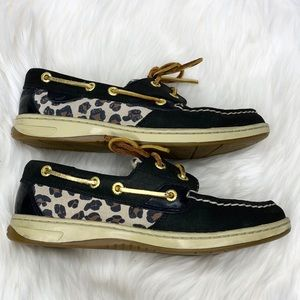 Sperry Shoes - Sperry Top Sider Leopard Print Boat Shoes Loafers